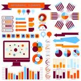 传染媒介信息图表元素集02 免版税库存图片