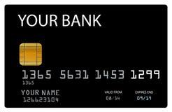 传染媒介信用卡 免版税库存照片