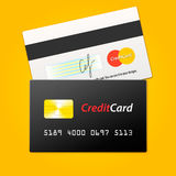 传染媒介信用卡 库存图片