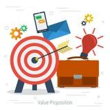 传染媒介价值提议概念 免版税库存照片