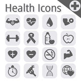 传染媒介黑健身和健康象 库存图片