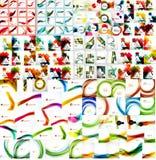传染媒介兆套抽象几何背景 库存照片