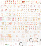 传染媒介兆套线性邮票商标 免版税库存图片