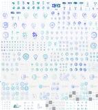 传染媒介兆套线性邮票商标 免版税图库摄影