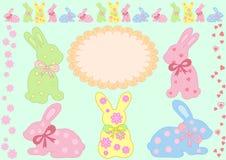 传染媒介兔宝宝的好的收藏 免版税库存照片