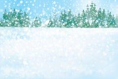 传染媒介冬天森林背景 库存图片