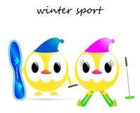 传染媒介冬季体育 免版税库存照片