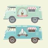 传染媒介冰淇凌卡车 免版税库存照片