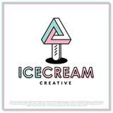 传染媒介冰淇凌商标 免版税库存图片