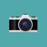 传染媒介减速火箭的照相机 免版税库存图片