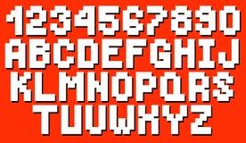 传染媒介几何方形的字体 免版税图库摄影