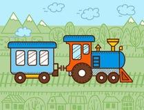 传染媒介动画片火车 向量例证