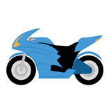 传染媒介动画片简单的摩托车 向量例证