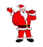 传染媒介动画片-圣诞老人字符 免版税库存照片