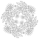 传染媒介单色花卉背景 免版税图库摄影