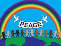 传染媒介和平 免版税库存照片