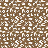 传染媒介咖啡豆无缝的重复的样式 免版税库存图片