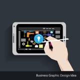 传染媒介商业图表设计想法 免版税库存照片