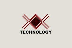 传染媒介商标技术 免版税库存图片