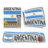 传染媒介商标阿根廷 库存例证