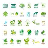传染媒介商标eco的汇集 免版税库存照片