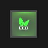 传染媒介商标eco 免版税库存图片