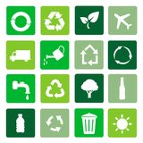 传染媒介回收标志 库存图片