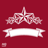 传染媒介国君标志 与五个星的欢乐图表象征 免版税图库摄影