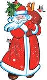 传染媒介图象圣诞老人 免版税库存图片