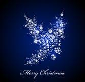 传染媒介圣诞卡:蓝色霍莉 皇族释放例证