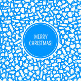 传染媒介圣诞卡 库存图片