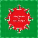 传染媒介圣诞卡 免版税图库摄影