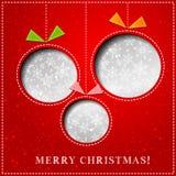 传染媒介圣诞快乐纸贺卡 免版税图库摄影