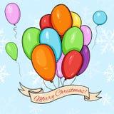 传染媒介圣诞快乐Greating卡片 向量例证