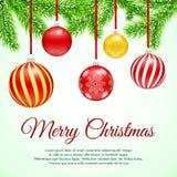 传染媒介圣诞树分支 免版税库存照片