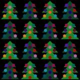 传染媒介圣诞树无缝的样式 库存图片