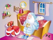 传染媒介圣诞老人晚安 免版税库存照片