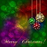 传染媒介圣诞节假日背景 免版税库存图片