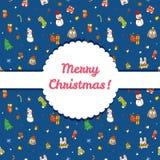 传染媒介圣诞节和新年无缝的样式 库存图片