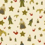 传染媒介圣诞节无缝的纹理 库存图片