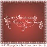 传染媒介圣诞节标题 免版税图库摄影