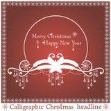 传染媒介圣诞节标题 库存图片