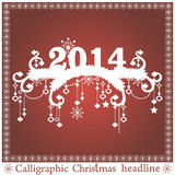 传染媒介圣诞节标题 图库摄影