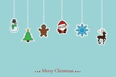 传染媒介圣诞节背景 免版税图库摄影