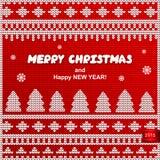 传染媒介圣诞节被编织的例证 免版税库存图片