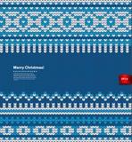 传染媒介圣诞节被编织的例证 免版税库存照片