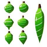 传染媒介圣诞节装饰汇集 库存例证