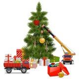 传染媒介圣诞节车间 免版税库存图片