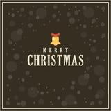 传染媒介圣诞节贺卡,黑暗的背景 库存例证