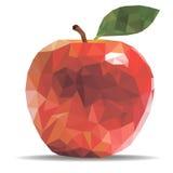 传染媒介在一个几何样式的例证苹果 免版税库存照片